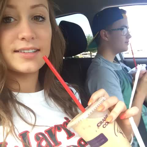 """Watch Mallory Thompson's Vine """"The drive through lady just thanked him for the hours of ..."""