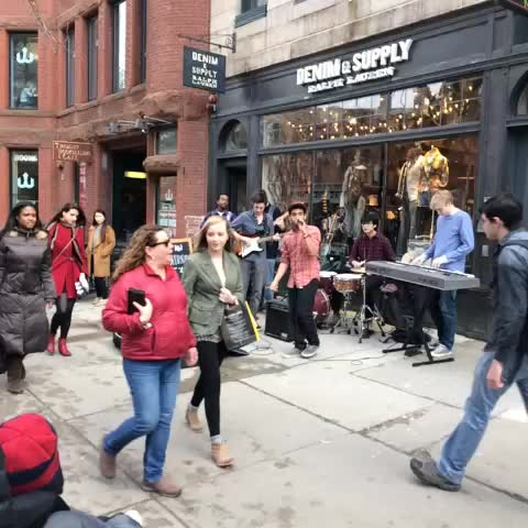 The sound of spring on Newbury Street. - BostonTweets post on Vine
