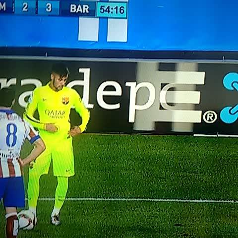 Vine by Sebastián Davidovsky - El gestito del 7 que le hicieron a Neymar