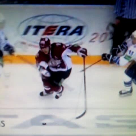 Huge center ice hit by Martins Karsums. #KHL #loop #tsunami #hit #hockey #Huge - Best Hockey Viness post on Vine