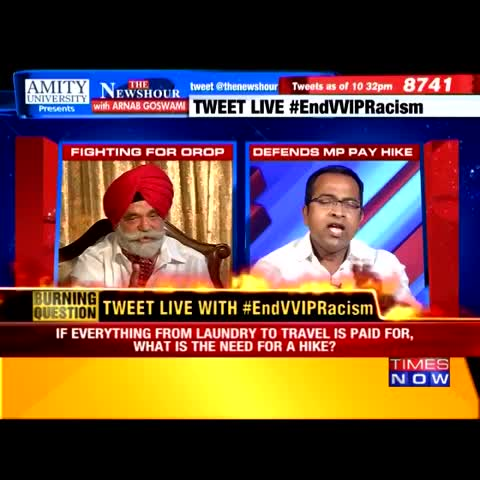 Vine by TIMES NOW - When you have waited for 45 years, why are you so impatient? Krishna Sagar Rao, BJP to Maj Gen (Retd) Satbir Singh #EndVVIPRacism