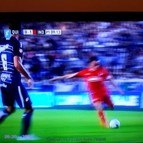 Vine by ElCrackDeportivo - Golazo de #Mancuello pone #Quilmes 0-1 #Independiente