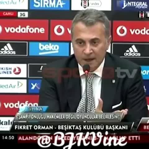Fikret Orman : Sivas maçını 3-2 kazanmamızda Ankara seyircisinin inanılmaz payı vardır. #BJKVine @BJKVine - Besiktas Vines post on Vine