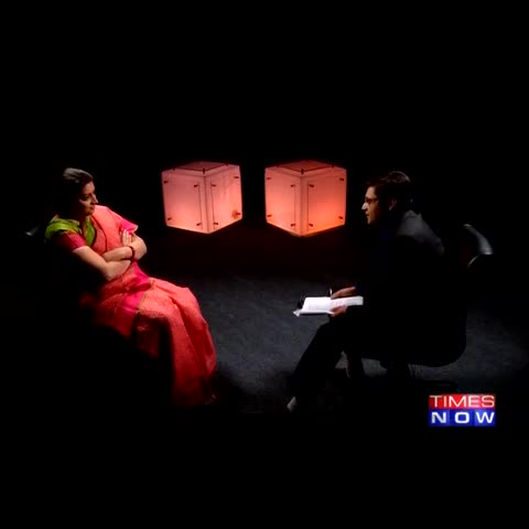 Vine by TIMES NOW - You want me to act like a political Cinderella? I am not that: HRD Minister Smriti Irani on #SmritiSpeaksToArnab