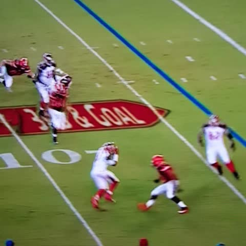Vine by Bottlegate - Sucks it was a TD but Nassib laid a nice little hit stick on Jameis here