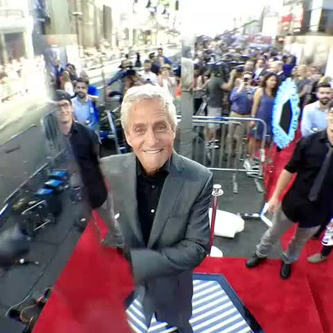 Vine by Ant-Man - Live from Marvels #AntMan premiere with #MichaelDouglas!