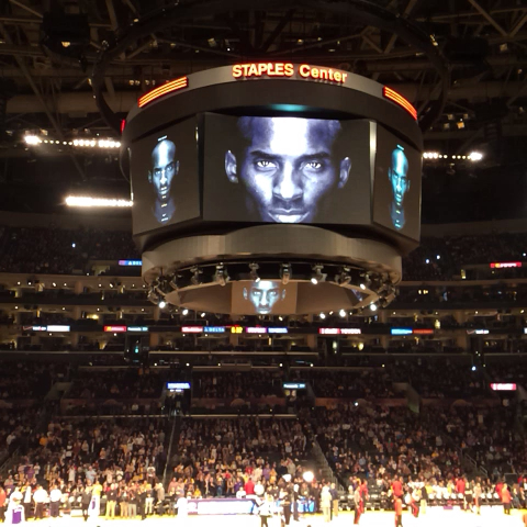 Part of the Kobe video narrated by Ice Cube that just ran at STAPLES. - Lakerss post on Vine