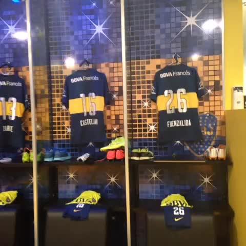 Boca Juniorss post on Vine - Así luce el vestuario azul y oro, a la espera de la llegada de los jugadores. - Boca Juniorss post on Vine