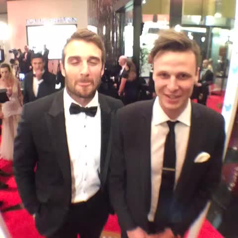 AFL Brownlows post on Vine - Jobe and Alex are enjoying the #SwisseRedCarpet ahead of the #Brownlow Medal. - AFL Brownlows post on Vine