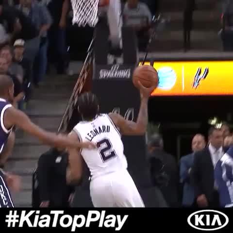 Vine by NBA - Kawhi Leonard set the tone early in Game 1! #KiaTopPlay