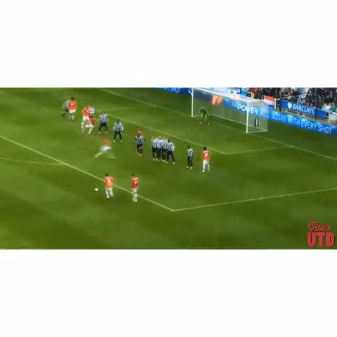 Vine by UtdVines - Juan Mata Beautiful Free-Kick vs Newcastle! #MUFC