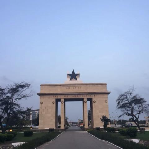 Kwabenas post on Vine - Vine by Kwabena - 360° of Black Star Gate. #Accra #Ghana #360 #Loop #IndependenceDay