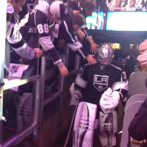 Home ice, baby - LA Kingss post on Vine