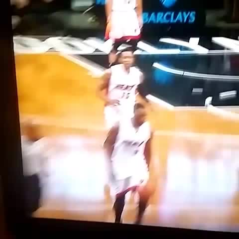 Luol Deng travels twice in one play, Heat get three points. - Vine by Tim Reynolds - Luol Deng travels twice in one play, Heat get three points.