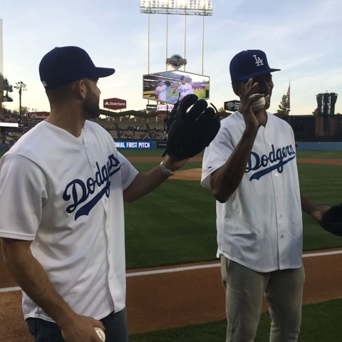 A little too much swag on this pitch: - Dodgerss post on Vine