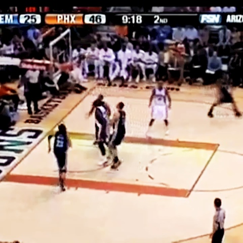 Ballislifes post on Vine - Vine by Ballislife - Shaq quickly clears the bench!