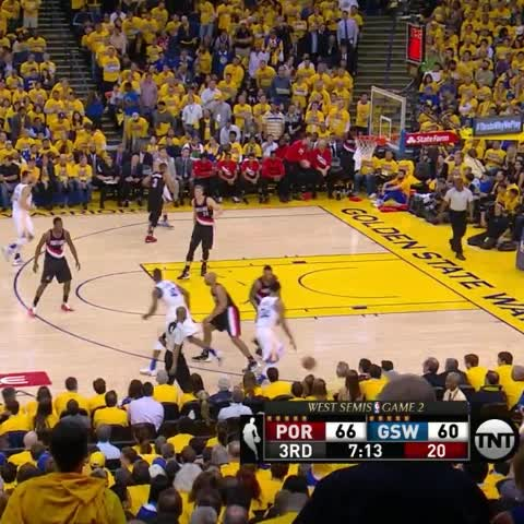Vine by warriors - Livingston goes lefty for the crafty finish on TNT.