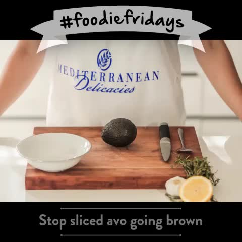 Mediterranean Deli..s post on Vine - Weve created the coolest #foodiefridays tips for you. Today, stop your sliced avo going brown - Mediterranean Deli..s post on Vine