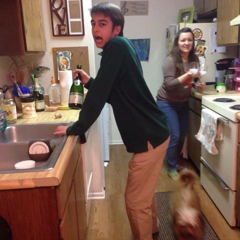 Grant Simons post on Vine - Vine by Grant Simon - When I get duh champagne
