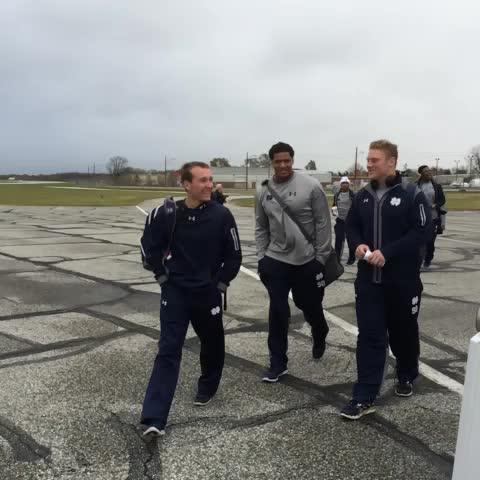 Notre Dame Footballs post on Vine - DC bound. #BeatNavy - Notre Dame Footballs post on Vine