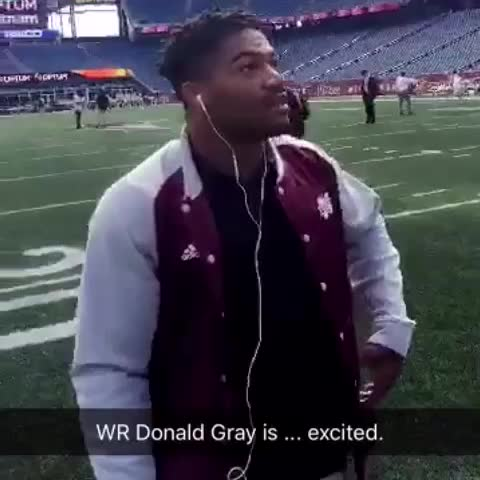 Vine by SEC Sports - Donald Gray is taking it all in at Gillette Stadium. #MSSTvsUMASS