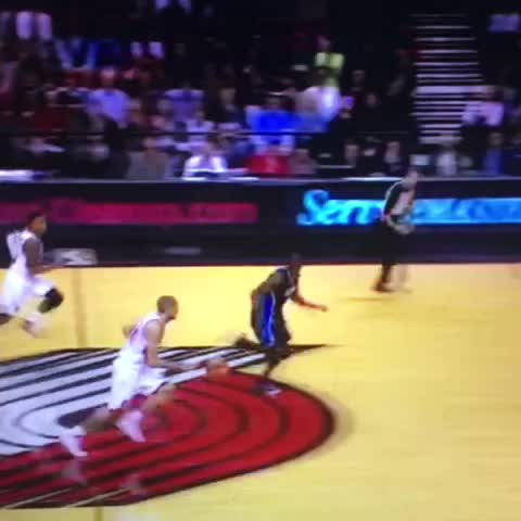 Vine by Anthony Slater - Check out this Victor Oladipo stuff of a Damian Lillard dunk