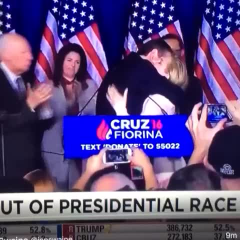 Vine by @World_Wide_Wob - Jim Ross calls Ted Cruzs elbow to his wifes face after dropping out of presidency