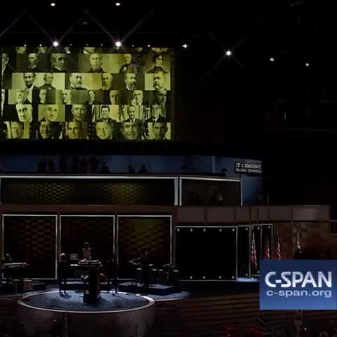 Vine by C-SPAN - Hillary Clinton breaks glass ceiling at #DemConvention