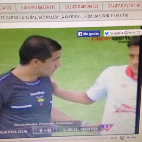 El pelotazo iba para Zambrano #LDU #UCatolica #Fail - FuterChistess post on Vine