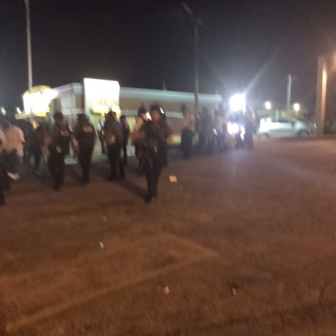Things aggressive now. Still unclear why police tactics suddenly changed - Wesley Lowerys post on Vine