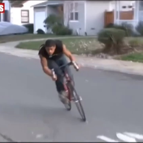 Vine by MADVILLAIN - Bike Thief Gets A Heavy NFL Sized Tackle By A Police Officer After He Allegedly Tried To Break Into A Garage ????