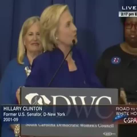 Vine by Free Beacon - Hillary Clinton reverts southern accent for speech in South Carolina
