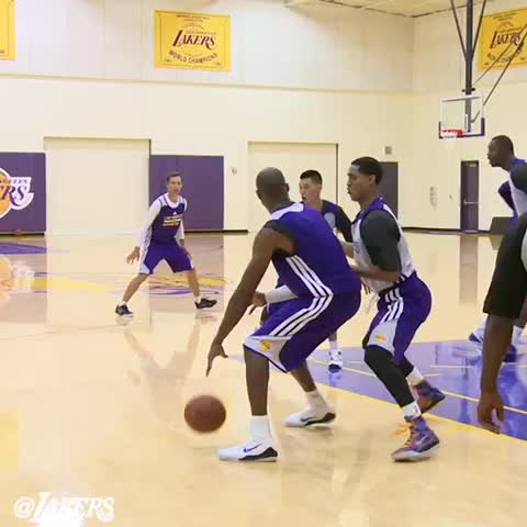Heres 6 seconds of highlights from todays practice scrimmage. Watch the full video on Lakers.com. - Lakerss post on Vine