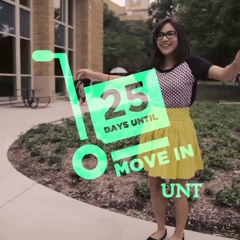 Vine by UNT Union - There are just 25 days until #UNT20 Move In day! YAAAS! #UNT #freshmen #college #collegelife #denton #NorthTexas #meangreen
