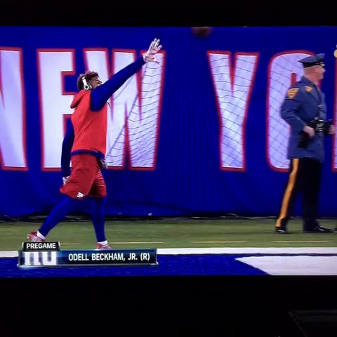 Steve Noahs post on Vine - Odell Beckham Jr. pregame catches. Wow - Steve Noahs post on Vine