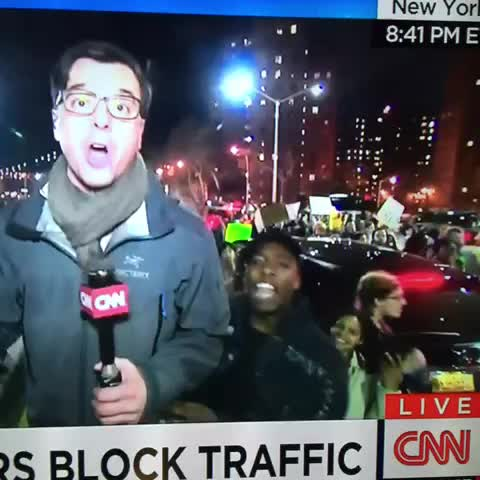 "Jorge Rivass post on Vine - CNN just aired a good 10 seconds of New Yorkers chanting ""f*ck CNN"" - Jorge Rivass post on Vine"