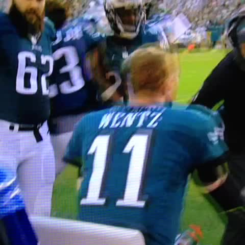 "Vine by John Barchard - Jason Kelce to Carson Wentz: ""Are you a f*cking robot?!! WTF, youre playing Madden out there."""