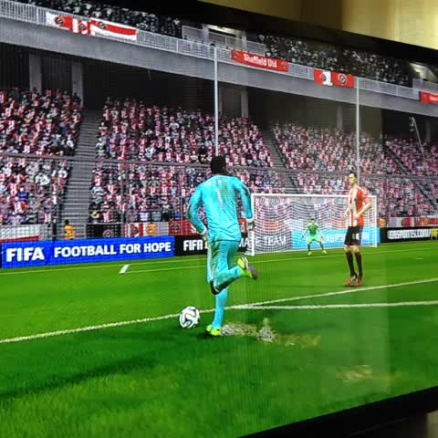 Joe Cranns post on Vine - Senzo Meyiwa will shortly be removed from #FIFA15... Its only fair that he got a goal first :) - Joe Cranns post on Vine