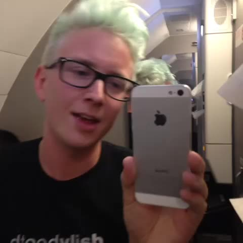 Tyler Oakleys post on Vine - a quick hello from the bathroom of my plane 😘 - Tyler Oakleys post on Vine