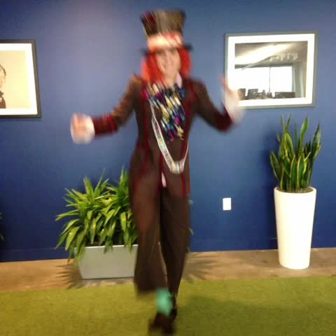 Our Mad Hatter is ready for our Halloween party! - Simply Measureds post on Vine