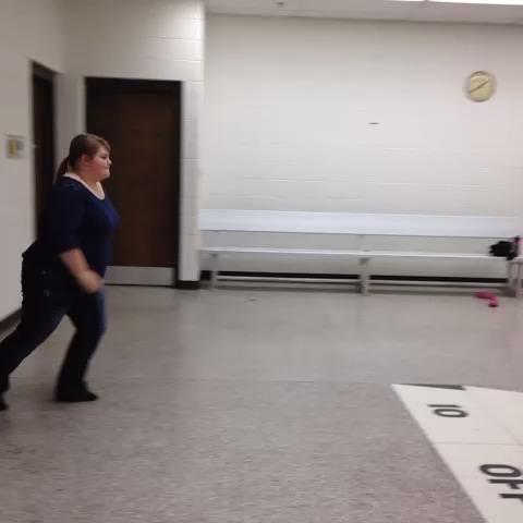 Alex doing a cartwheel