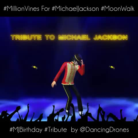 CROWDOCRACYs post on Vine - #MillionVines for #MichaelJackson #MoonWalk #MJBirthday #Tribute  by @DancingDrones - CROWDOCRACYs post on Vine