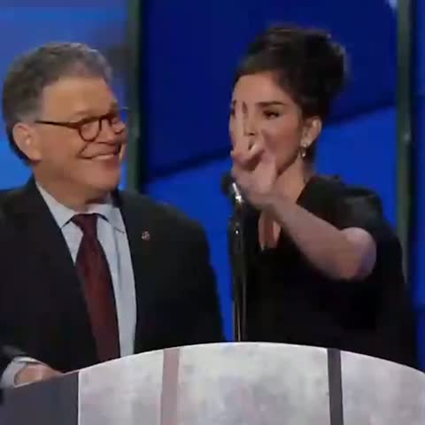 Vine by POLITICO - .@SarahKSilverman responds to the Bernie-or-bust members of the crowd