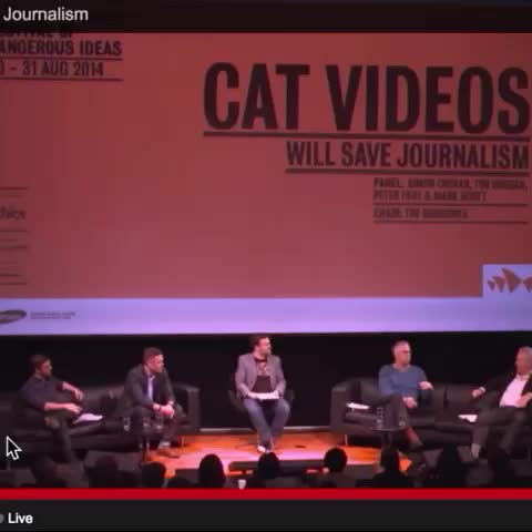 Fascinating talk at #FODI @SydOperaHouse ... But why just cat videos? http://bit.ly/fodicat - Australias post on Vine
