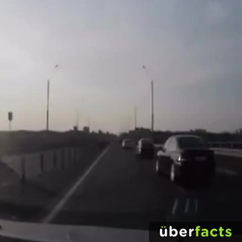 UberFactss post on Vine - This motorcyclist got really lucky after crashing into the back of a car. #UberFacts - UberFactss post on Vine
