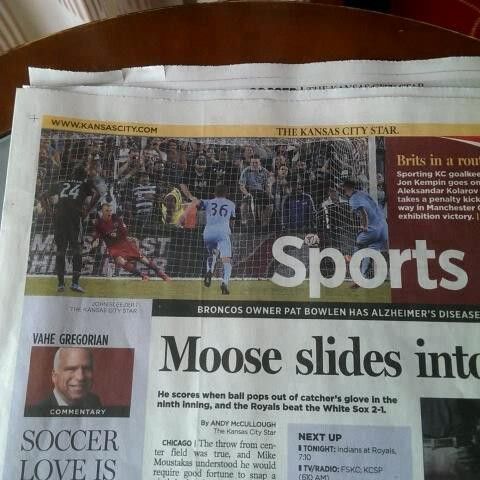 Kansas City Star coverage of the #SportingKC v #MCFC game - Paul Handlers post on Vine
