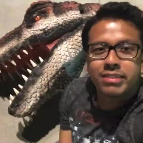 Karlos post on Vine - Dinosaur in the hood scare prank w/KHA Entertainment (Brandon Castro as Kojo the dino) - Karlos post on Vine