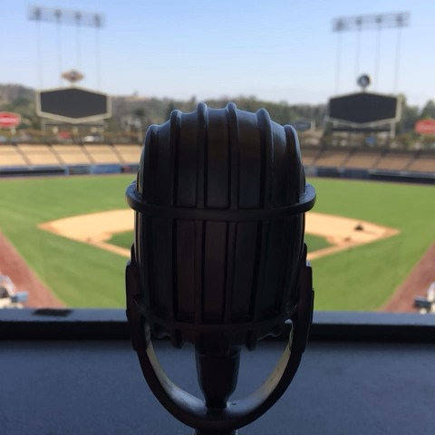 The Vin Scully 65th Anniversary Microphone. #ITFDB - Dodgerss post on Vine