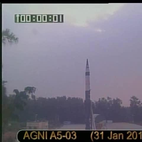 Vine by ANI - Wheelers Island (off Odisha coast): Agni V successfully test fired (Source: DRDO)