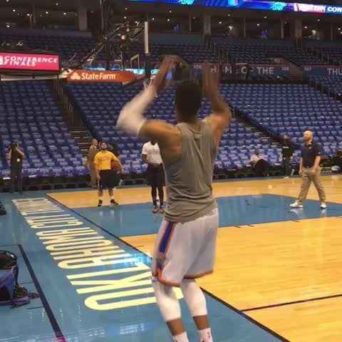 Vine by NBA - Game 6 pregame in OKC.. ???????????????????????????????? ! @russwest44